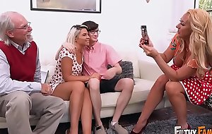 FILTHY FAMILY - Everyone Joins This Distorted Orgy, Including Grandpa!