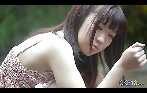 Slow-witted Japanese teen angel first time erotic open-air twitting