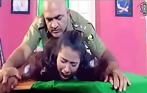 Army officer is forcing a lady to changeless sex in his cabinet