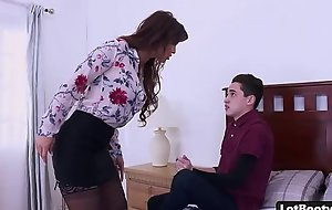 Chunky nuisance increased by fat pair milf gets anal drilled increased by complexion sitting