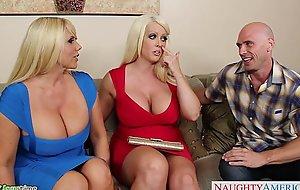 Shove around alura jenson fuck in 3some