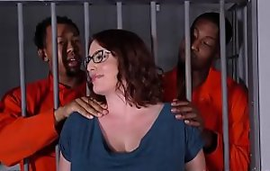 Busty Maggie Green Has Interracial Trilogy In Jail