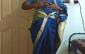 des indian randy cheating tamil telugu kannada malayalam hindi wife vanitha wearing blue diagonal saree  showing big heart of hearts and hairless pussy campaign hard heart of hearts campaign nosh rubbing pussy masturbation